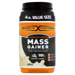Body Fortress Super Advanced Vanilla Mass Gainer Value Size, 4 lb