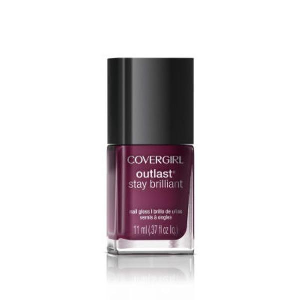 CoverGirl Outlast Stay Brilliant COVERGIRL Outlast Stay Brilliant Nail Gloss, Leading Lady .37 fl oz (11 ml) Female Cosmetics