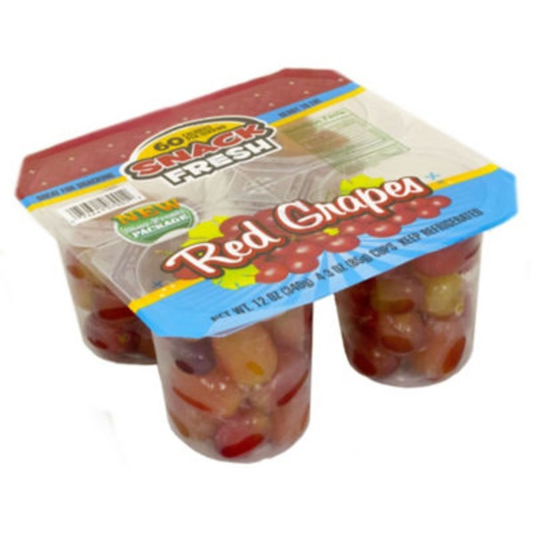 H-E-B Ready Fresh Go Red Grapes Snack Packs
