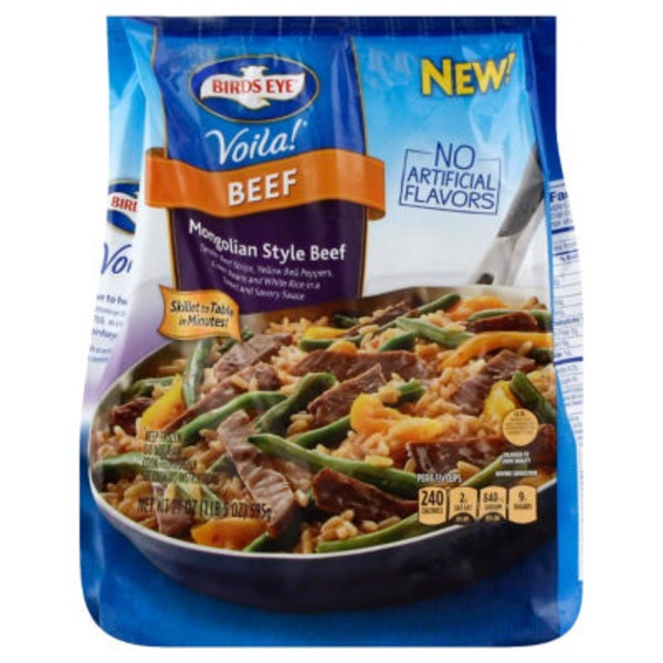 Birds Eye Mongolian Style Beef Frozen Dinner