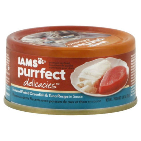 Iams Featured Flaked Oceanfish & Tuna Recipe in Sauce Cat Food