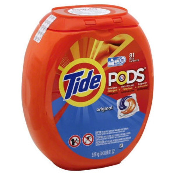 Tide PODS HE Turbo Laundry Detergent Pacs, Original Scent, 81 count Laundry