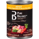 Pure Balance Canned Chicken Vegetables & Brown Rice Wet Dog Food, 12.5 Oz