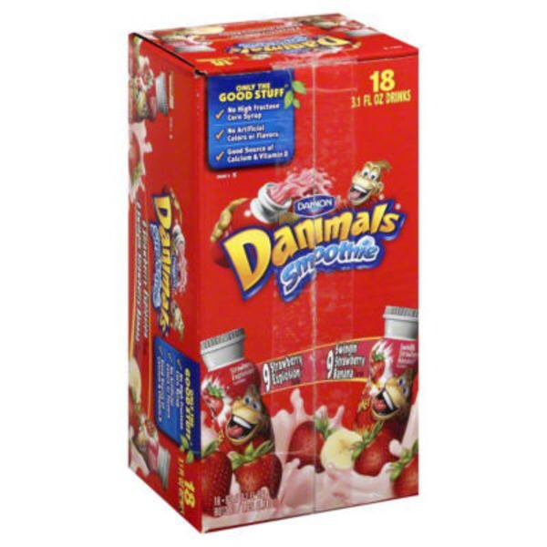 Danimals Strawberry Explosion/Swingin' Strawberry Banana Smoothies