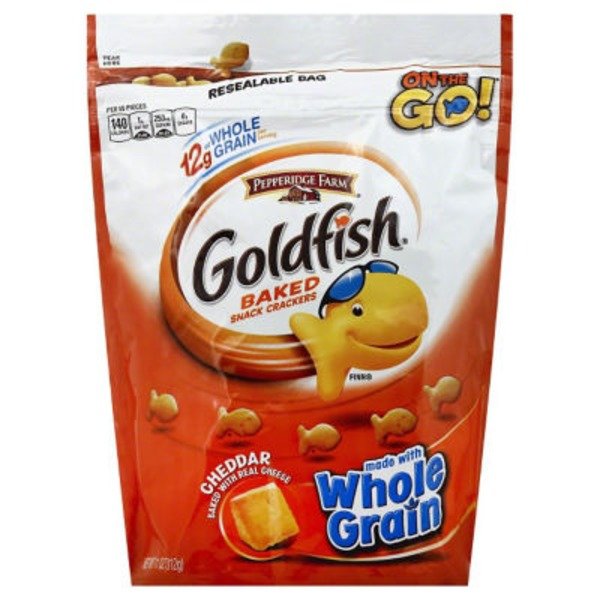 Pepperidge Farm Goldfish Baked with Whole Grain Cheddar Baked Snack Crackers