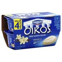 Dannon Oikos Greek Yogurt Nonfat Vanilla - 4