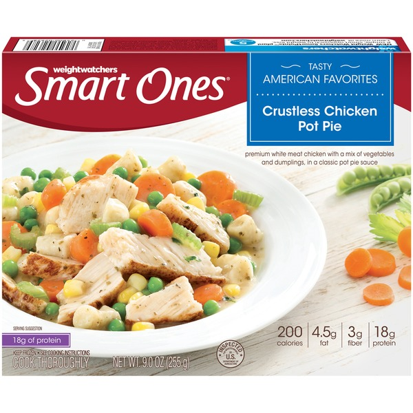 Weight Watchers Tasty American Favorites Crustless Chicken Pot Pie Frozen Entree