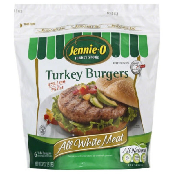 Jennie-O All White Meat 1/3 lb Turkey Burger (260009)