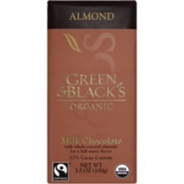 Green & Black's Bars 37% Cacao Organic Milk Chocolate With Almonds