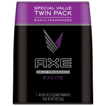 AXE Body Spray for Men, Excite, 4 Oz, Twin Pack