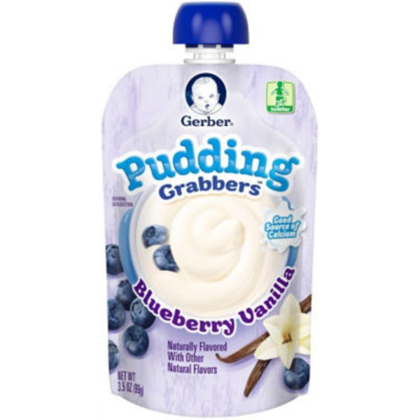Gerber Grabbers Blueberry Vanilla Pudding