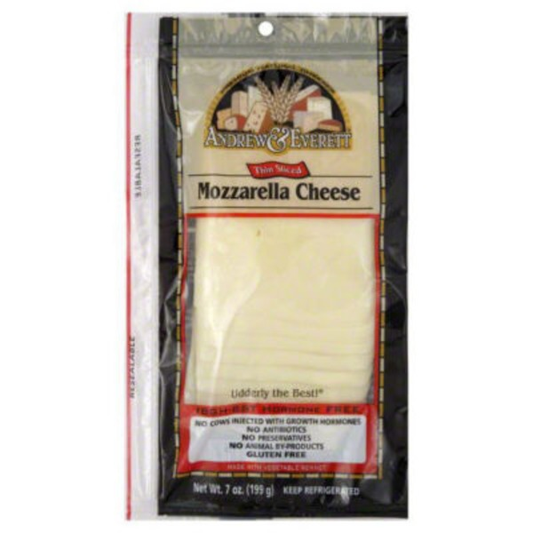 Andrew & Everett Thin Sliced Mozzarella Cheese