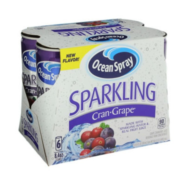 Ocean Spray Sparkling Cran-Grape Fruit Juice Beverage
