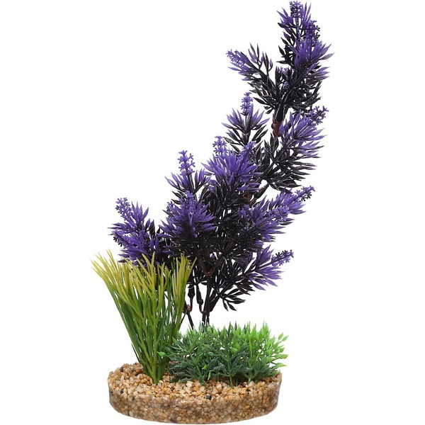 Petco Purple & Black Pacifica Plant Plastic Aquarium Plant