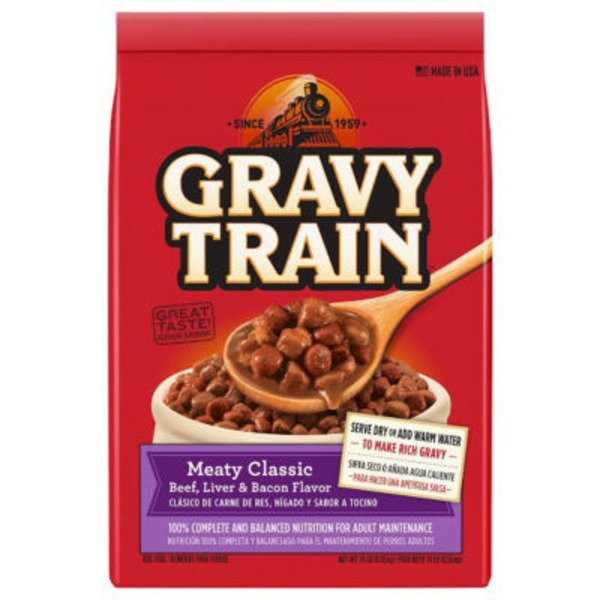 Gravy Train Meaty Classic Beef, Liver and Bacon Flavor Dog Food