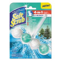 Soft Scrub 4-in-1 Toilet Care Alpine Fresh Scent Toilet Cleaner with Bleach, 4 count, 1.76 oz
