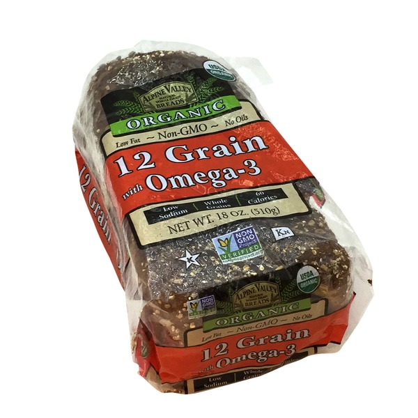 Alpine Valley Breads Bread, 12 Grain with Omega-3