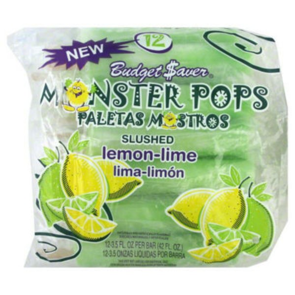 Budget Saver Lemon Lime Monster Pops