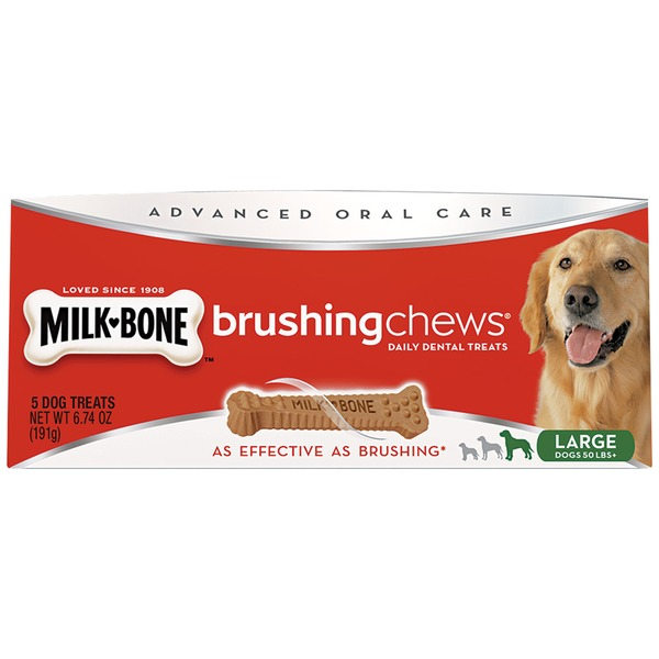 Milk-Bone Brushing Chews Dental Large Dog Treats