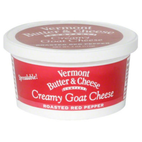 Vermont Creamery Spreadable Goat Cheese Roasted Red Pepper