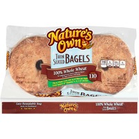 Natures Own Thin Sliced 100% Whole Wheat Bagels