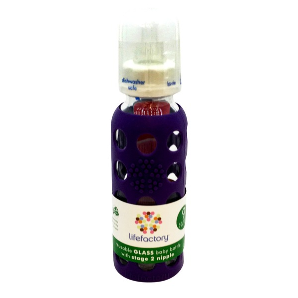 Lifefactory Royal Purple Glass Baby Bottle