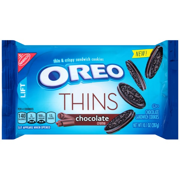 Nabisco Oreo Thins Chocolate Creme Sandwich Cookies