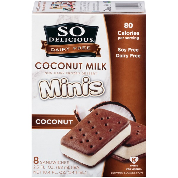 So Delicious Dairy Free Coconut Milk Minis Coconut Non-Dairy Frozen Dessert