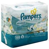 Pampers Baby Wipes Sensitive Travel Packs 3x