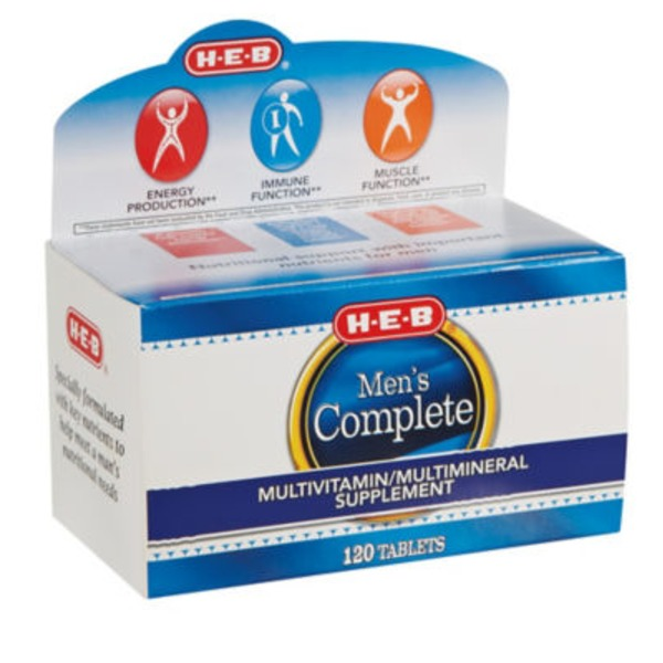 H-E-B Men's Complete Multivitamin/Multimineral Supplement Tablets