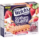 Welch's Graham Slam! Strawberry PB & J Graham Cracker Sandwiches