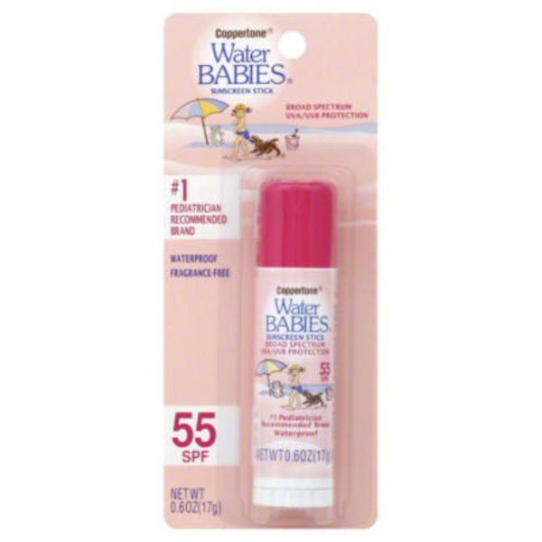 Coppertone Water Babies Broad Spectrum SPF 55 Sunscreen Stick
