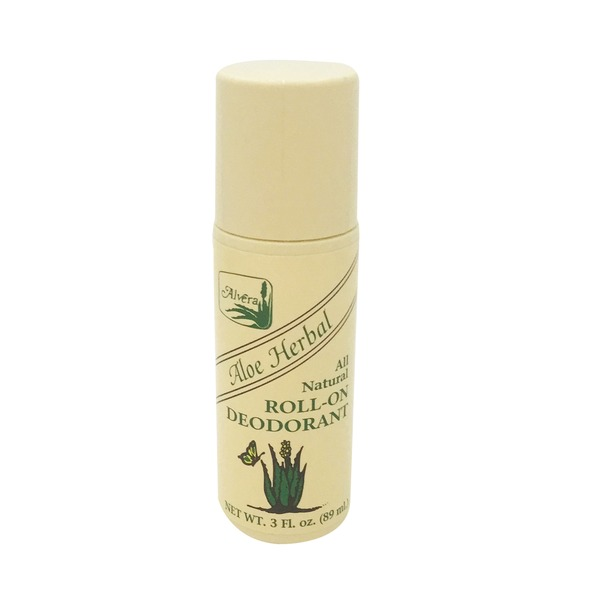 Alvera Aloe Herbal All Natural Roll-On Deodorant