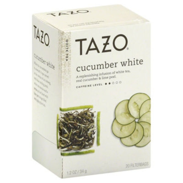 Tazo Tea White Tea Cucumber White Tea Bags
