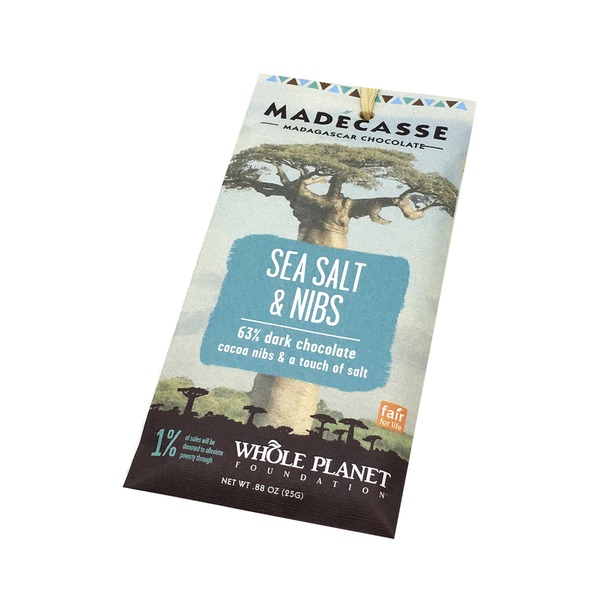 Madecasse Sea Salt & Nibs Chocolate Mini Bar
