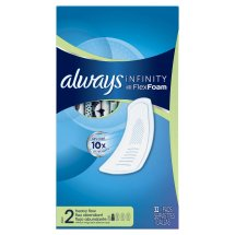 Always Infinity Size 2 Super Pads Without Wings, Unscented, 32 Count