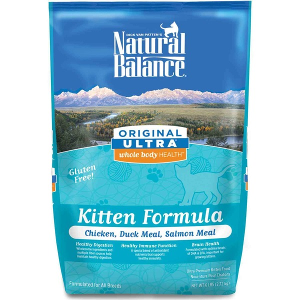 Natural Balance Original Ultra Whole Body Health Chicken Duck Meal & Salmon Meal Kitten Food