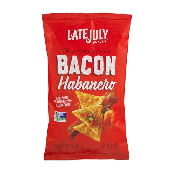 Late July Snacks Tortilla Chips Bacon Habanero