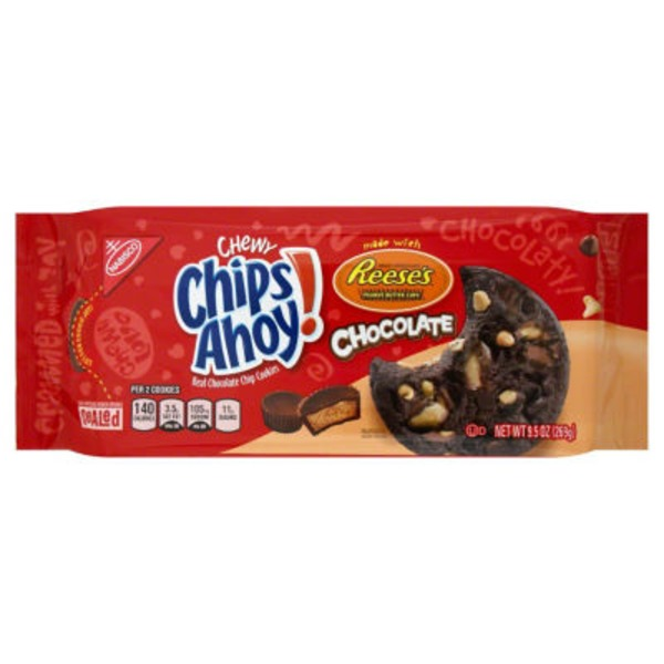 Chips Ahoy! Chewy Chocolate Made with Reese's Peanut Butter Cups Cookies