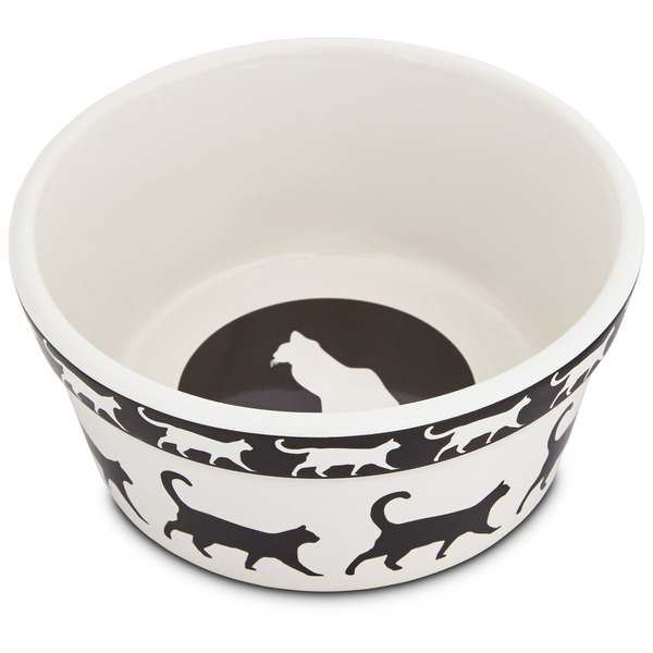 Harmony Catwalk Ceramic Cat Bowl