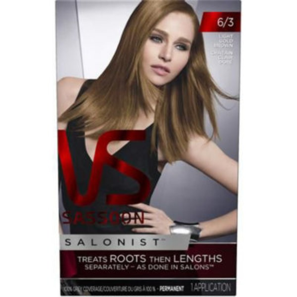 Vidal Sassoon Salonist Permanent 6/3 Light Gold Brown Hair Colour