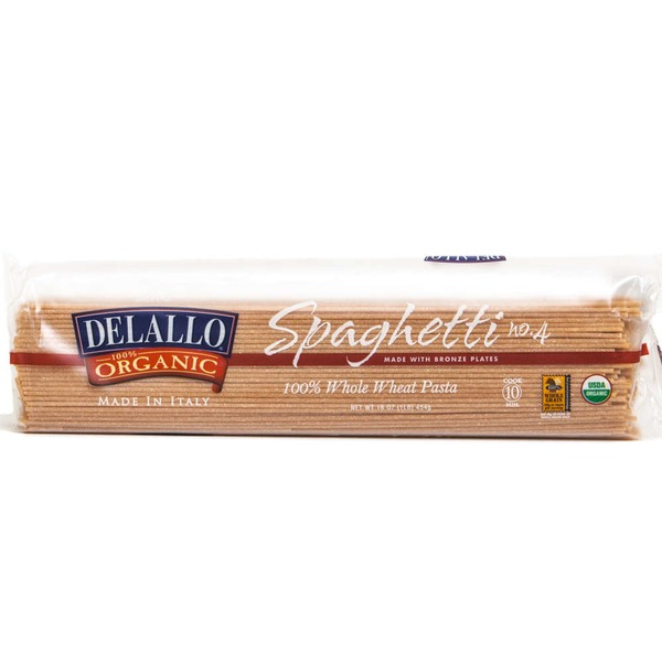 DeLallo 100% Organic Whole Wheat Pasta Spaghetti
