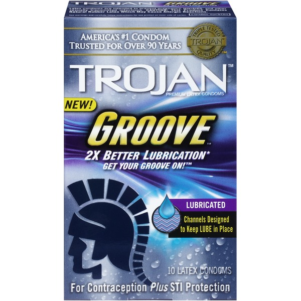 Trojan Groove Lubricated Latex Condoms