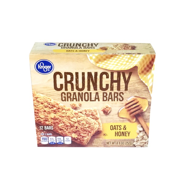 Kroger Crunchy Oats & Honey Granola Bars