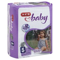 H-E-B Baby Jumbo Pack Diapers Size 5 (27+ Lbs)