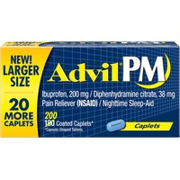 Advil PM Ibuprofen 200 mg Pain Reliever Nighttime Sleep-Aid