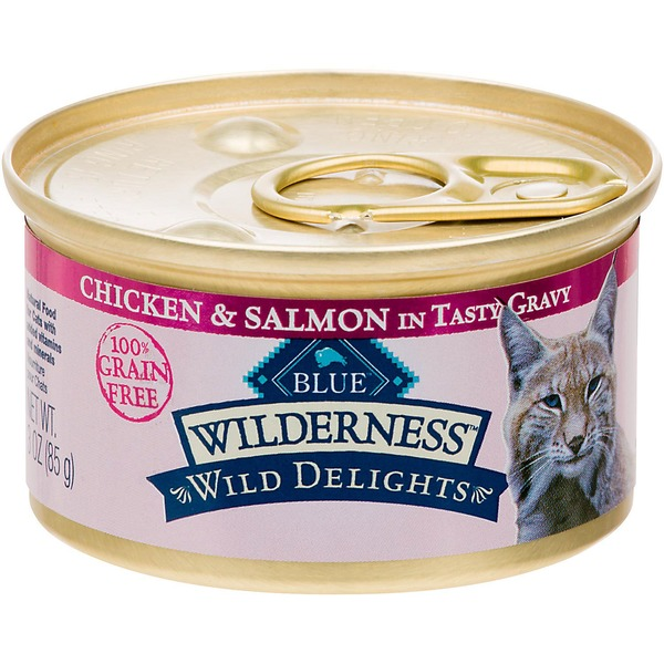 Blue Buffalo Wilderness Grain Free Meaty Morsels Chicken & Salmon Cat Food