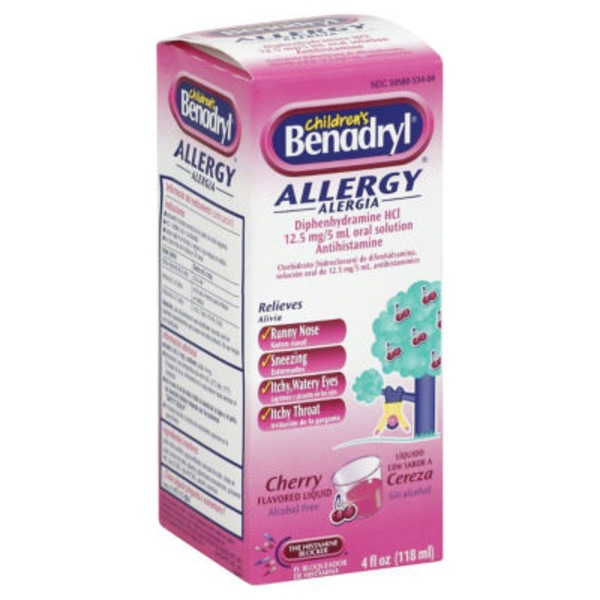Children's Benadryl® Cherry Flavored Allergy Medicine