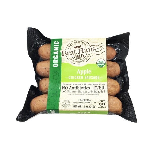 Whole Foods Brat Hans Organic Apple Chicken Sausage Delivery Online