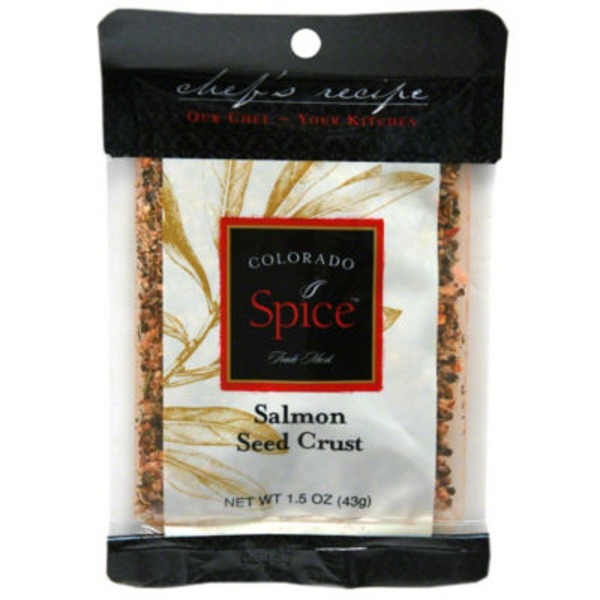 Colorado Spice Chef's Recipe Salmon Seed Crust